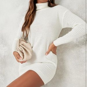 missguided white sweater dress